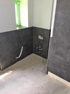 Die CV-Fliese als eine alternative bad- und feuchtigkeitstaugliche Lösung für Boden und Wände.