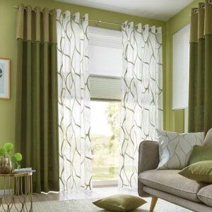 Pfeffriges Grün für Gardine oder Wandgestaltung