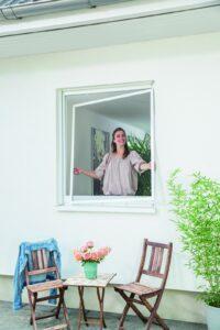 Spannrahmen Insektenschutz für das Fenster