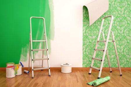 Vliestapete und Wandfarbe für die Gestaltung vom Wohnraum